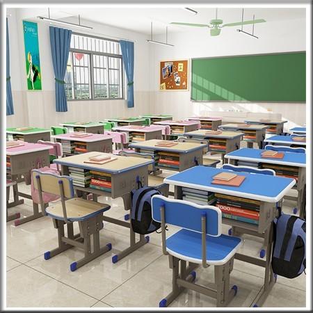 双柱升降课桌椅