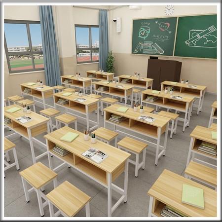 双人双层学习课桌椅