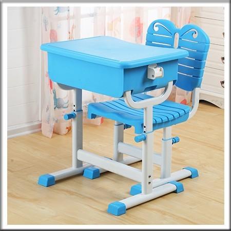 单人塑钢升降课桌椅