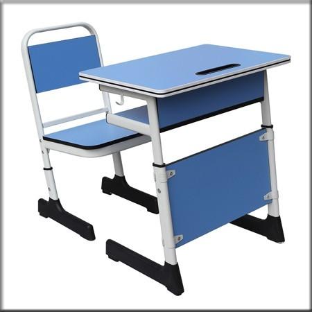 单人双层升降课桌椅