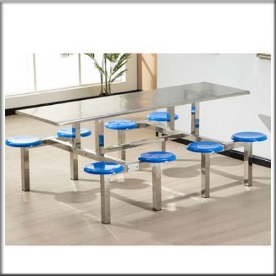 不锈钢八人位餐桌155