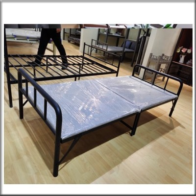 单层折叠铁架床