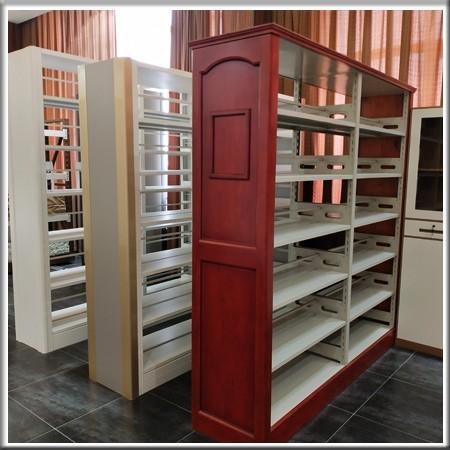 木护侧板书架