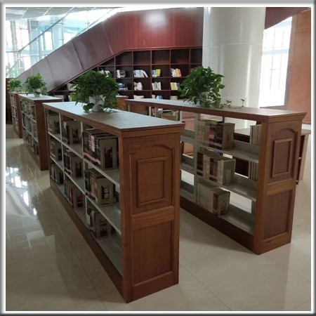 实木侧板矮书架