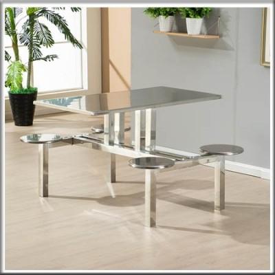 不锈钢四人餐桌234