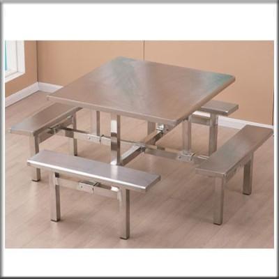 不锈钢方形餐桌212