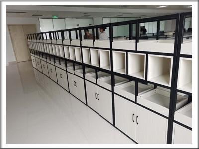大岭社区办公设备家具配套案例